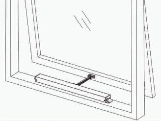 motorized window opener installation example